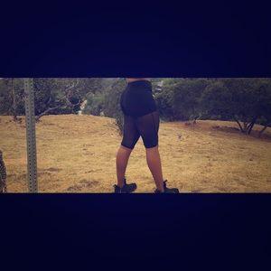 Mesh Bermuda shorts